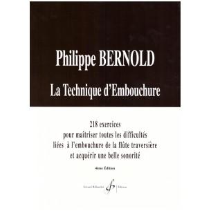 La Technique d'embouchure -  Philippe Bernold