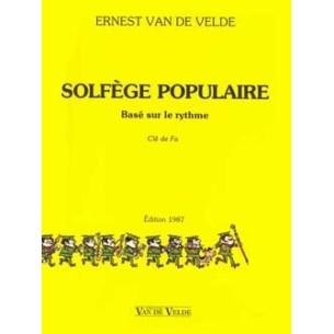 Solfège populaire Van de Velde - clé de fa