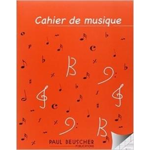 Cahier de musique 8 portées et pages d'écriture Seyes