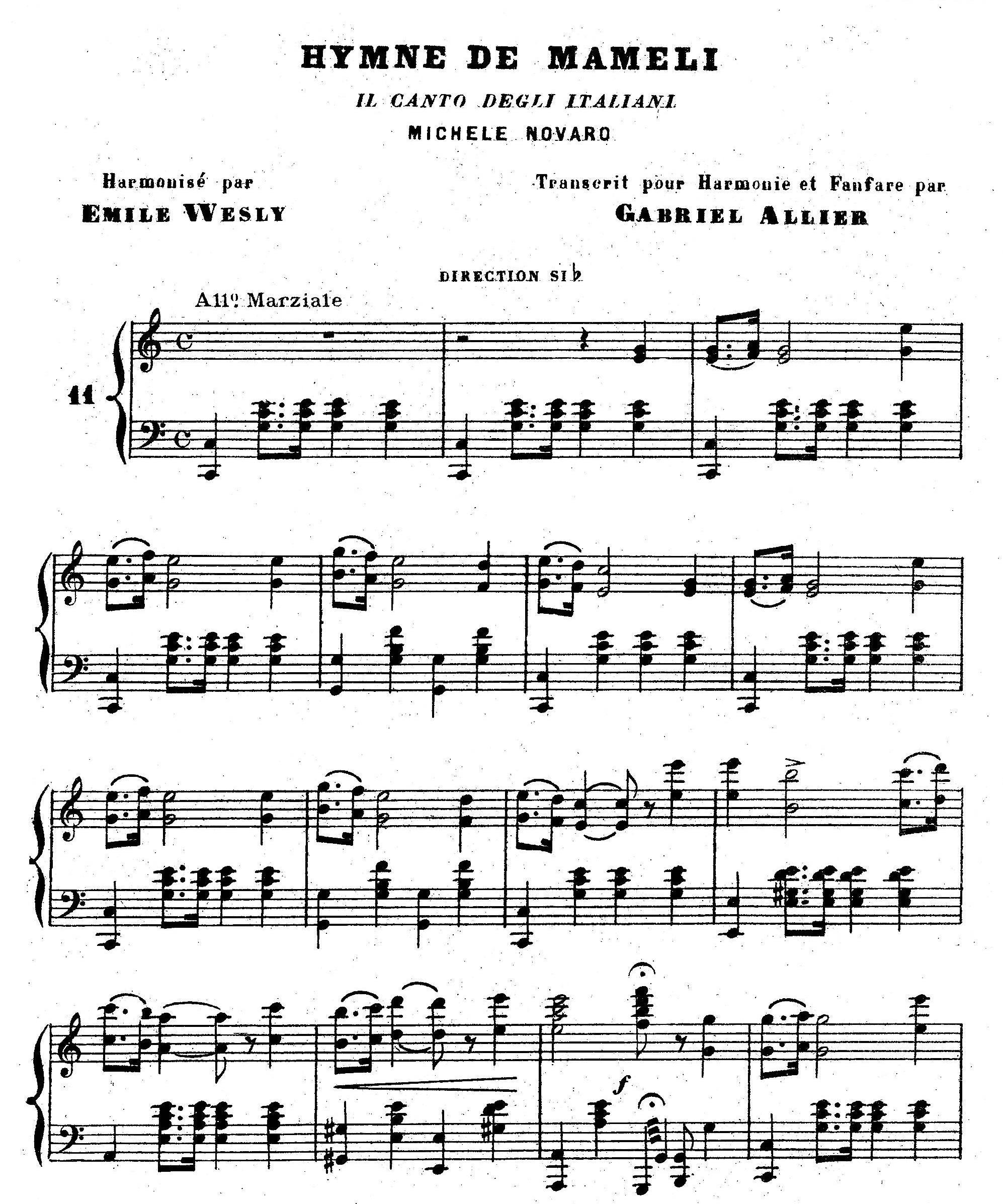 hymne de mameli