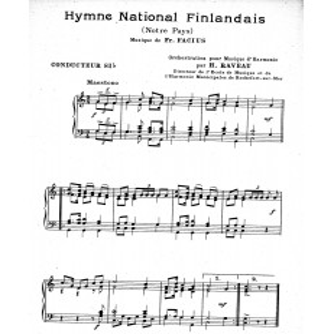 Hymne national finlandais (Notre Pays)