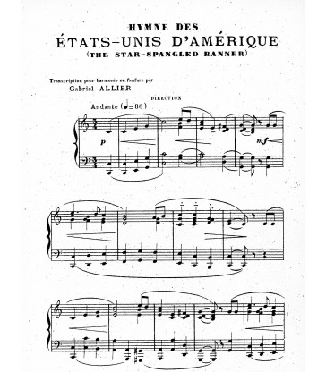 Hymne des Etats-Unis d'Amérique (The Star-Spangled Banner)