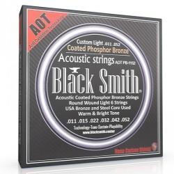 Jeu de cordes guitare acoustique Black & Smith