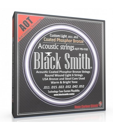 Jeu de cordes guitare acoustique Black & Smith